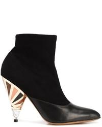 schwarze Wildleder Stiefeletten von Givenchy