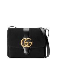 schwarze Wildleder Umhängetasche von Gucci