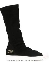 schwarze Wildlederfreizeitstiefel von adidas