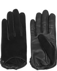 schwarze Wildlederhandschuhe von Givenchy