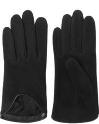 schwarze Wildlederhandschuhe von Rag & Bone
