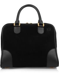 schwarze Wildlederhandtasche von Loewe