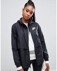 schwarze Windjacke von Nike