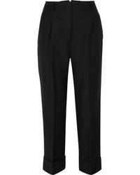 schwarze Wollanzughose von Prada