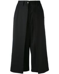 schwarze Wollbermuda-shorts von MM6 MAISON MARGIELA