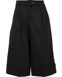 schwarze Wollbermuda-shorts von Simone Rocha