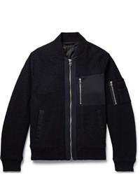 schwarze Wollbomberjacke von Gant