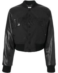 schwarze Wollbomberjacke von Givenchy