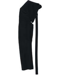 schwarze Wollhandschuhe von Ann Demeulemeester
