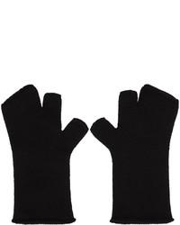 schwarze Wollhandschuhe von Attachment