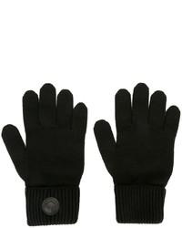 schwarze Wollhandschuhe von DSQUARED2