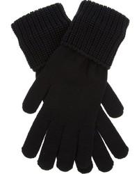 schwarze Wollhandschuhe von Givenchy