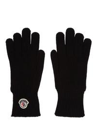 schwarze Wollhandschuhe von Moncler