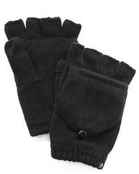schwarze Wollhandschuhe von Plush