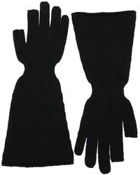 schwarze Wollhandschuhe von Rick Owens