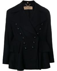 schwarze Wolljacke von Burberry