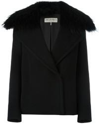 schwarze Wolljacke von Emilio Pucci
