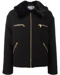 schwarze Wolljacke von Moschino