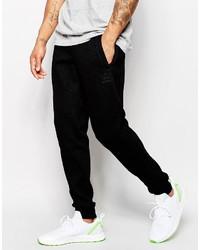 schwarze Wolljogginghose von adidas