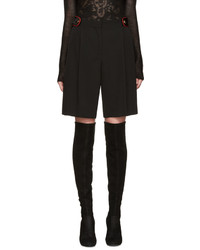 schwarze Wollshorts von Givenchy
