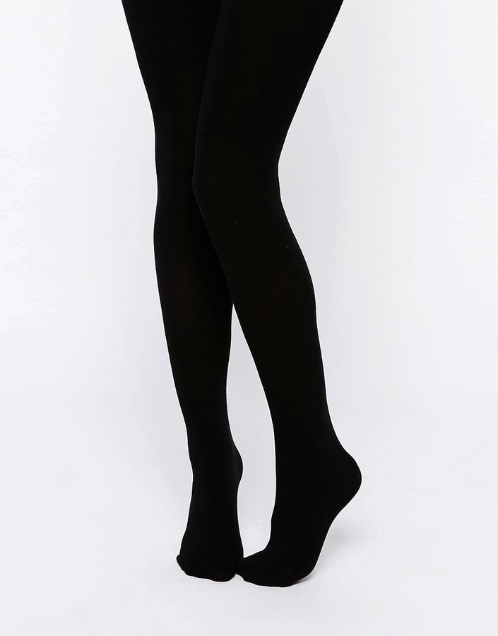 schwarze Wollstrumpfhose von Asos