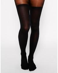 schwarze Wollstrumpfhose von Gipsy