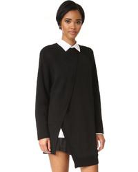 schwarze Wolltunika von DKNY