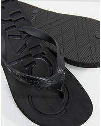 schwarze Zehensandalen von Calvin Klein