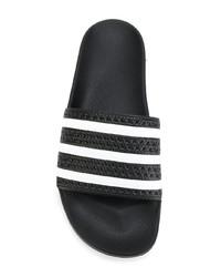 schwarze Zehensandalen von adidas