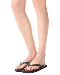 schwarze Zehentrenner von Moschino