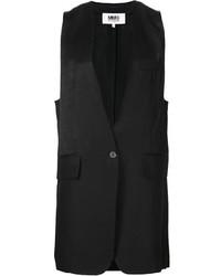 schwarzer ärmelloser Blazer von MM6 MAISON MARGIELA