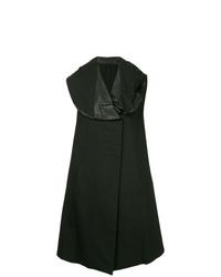schwarzer ärmelloser Mantel von Masnada