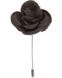 schwarzer Anstecknadel mit Blumenmuster von Lanvin