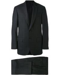 schwarzer Anzug mit Karomuster von Brioni