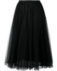 schwarzer ausgestellter Rock aus Tüll von Valentino