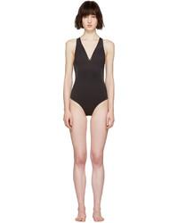 schwarzer Badeanzug aus Netzstoff von Stella McCartney