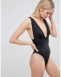 schwarzer Badeanzug von Asos