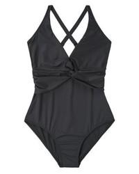 schwarzer Badeanzug von Mango