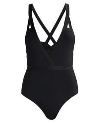 schwarzer Badeanzug von YAS