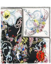 schwarzer Bandana mit Blumenmuster von Fendi