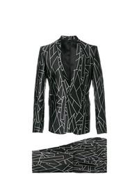 schwarzer bedruckter Anzug von Les Hommes