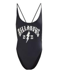 Schwarzer bedruckter Badeanzug von Billabong