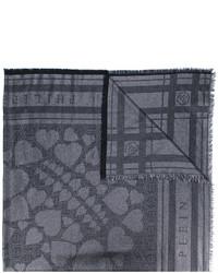 schwarzer bedruckter Baumwollschal von Philipp Plein
