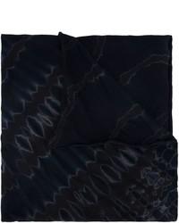 schwarzer bedruckter Baumwollschal von Raquel Allegra