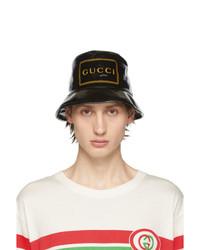 schwarzer bedruckter Fischerhut von Gucci