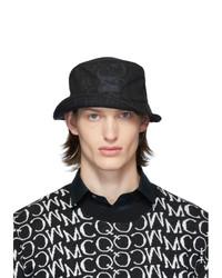 schwarzer bedruckter Fischerhut von McQ Alexander McQueen