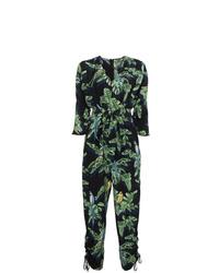 schwarzer bedruckter Jumpsuit aus Seide von Stella McCartney