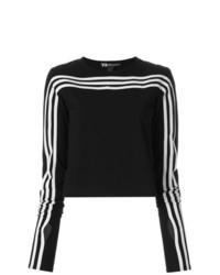 schwarzer bedruckter kurzer Pullover