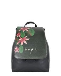 schwarzer bedruckter Leder Rucksack von DOGO