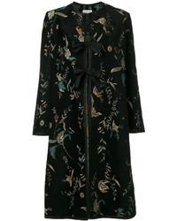schwarzer bedruckter Mantel von Forte Forte